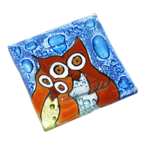 Hand made Owls Small Plate
