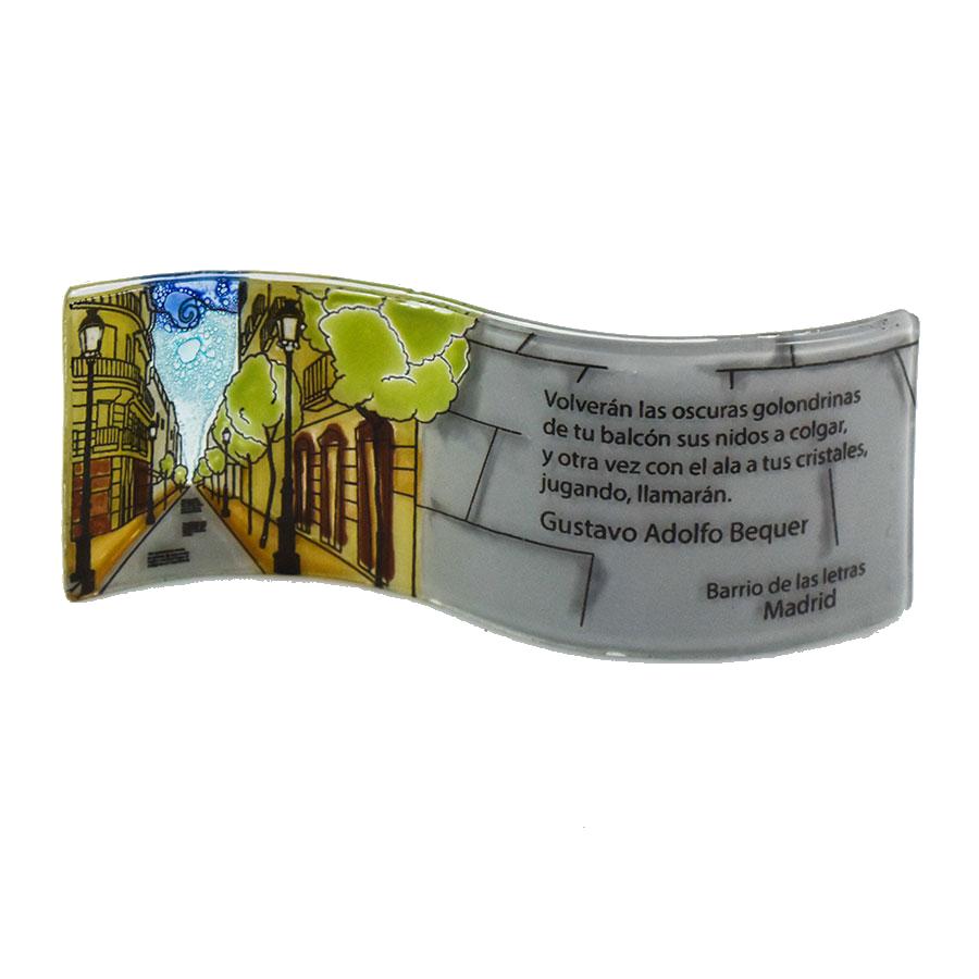 """""""Barrio de las letras"""" Adolfo bequer Handmade Wavy Glass"""