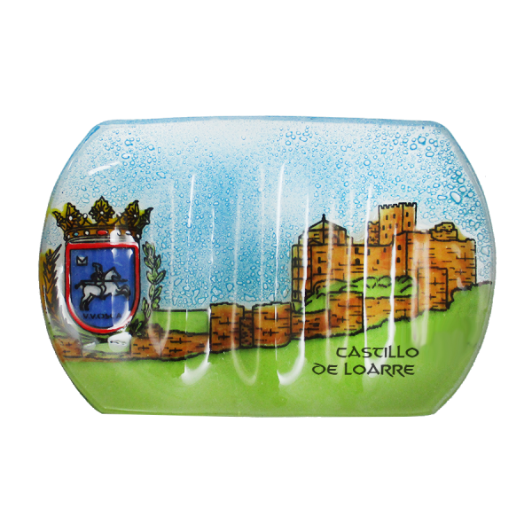 Castillo de Loarre handmade glass soap dish