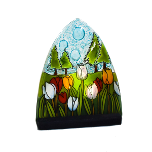 tulipanes glass handmade