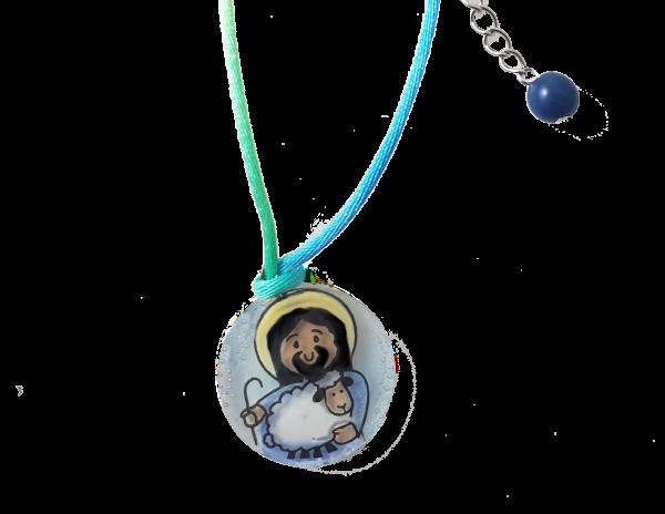 Jesus glass handmade